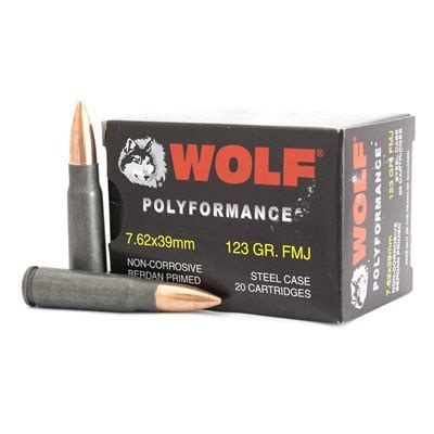 BROWNELLS POLYFORMANCE AMMO 7 62X39MM 123GR FMJ WITH TAPCO
