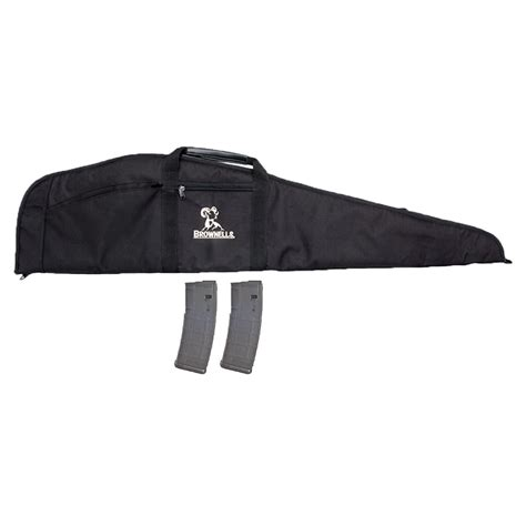 BROWNELLS SCOPED RIFLE CASE W 2-PK 30-RD PMAGS Brownells