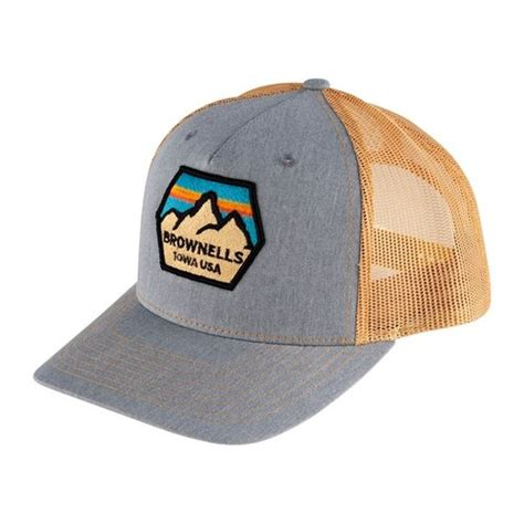 Brownells Snapback 5panel Trucker Hat Light Bluegold Richardson Trucker Hat W Brownells Patch