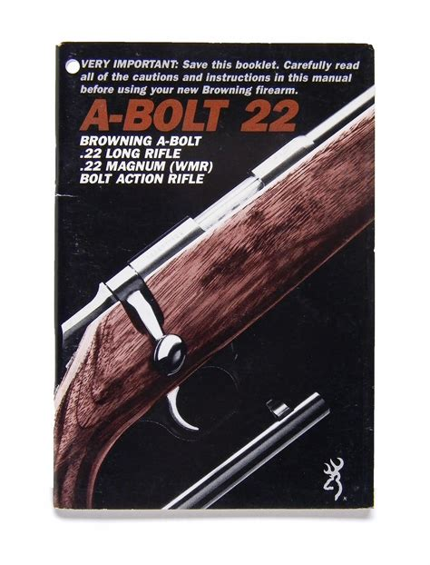 Browning Bolt Action Mauser Rifle Owners Manual |