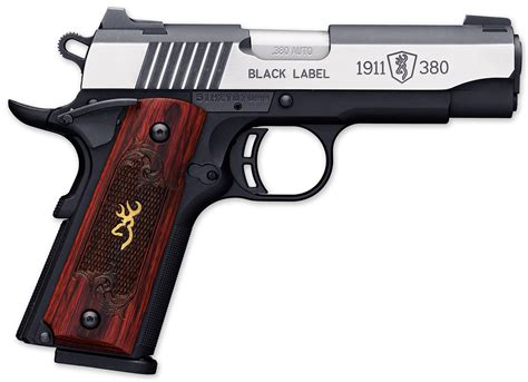 Browning Black Label 1911 9mm Handguns With Little Recoil