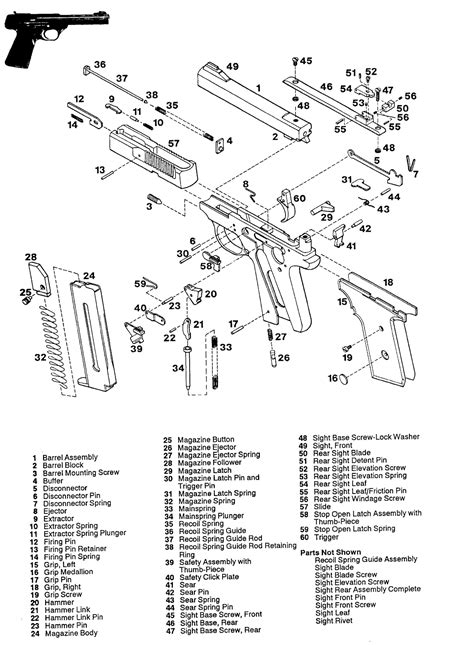 Browning Buckmark Parts And Schematic Numrich