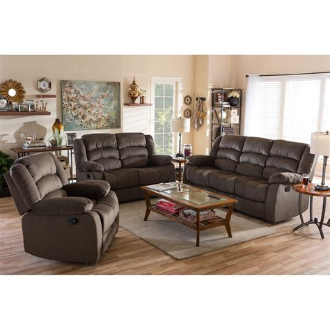 Bryce Reclining 3 Piece Living Room Set