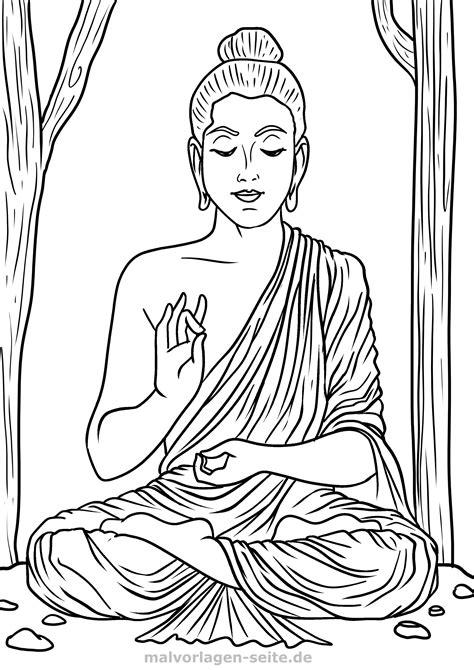 Buddha Malvorlage
