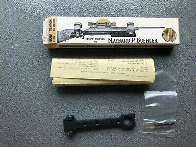 Buehler M83 No Drill Scope Mount Base Smith Wesson S W K N