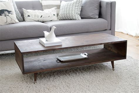 Build a mid century modern coffee table woodworking Image