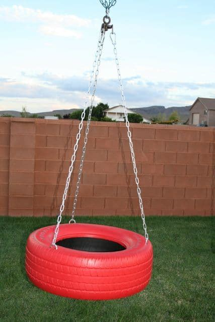 Build a tire swing frame Image