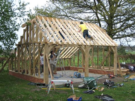 Build a wooden garage Image
