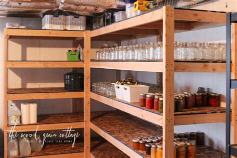Build Wood Storage Shelves Basement Image