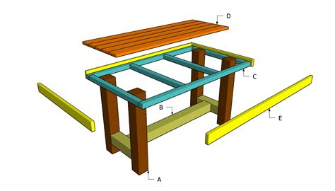 Build wood table plans Image