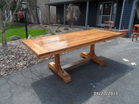 Build your own dining table plans Image