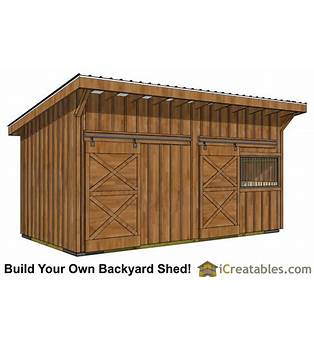 Build Your Own Horse Barn Plans