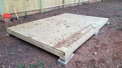 building a shed on a budget part 2 building the floor Image