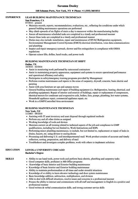 Building Maintenance Resume CV Templates Download Free CV Templates [optimizareseo.online]