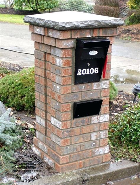 Building a Brick Mailbox Plans