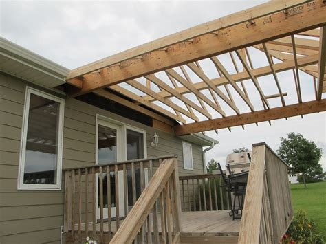 Building a deck roof Image