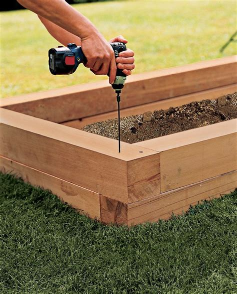 Building a raised planter Image