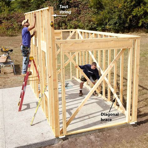 Building a shed wall Image