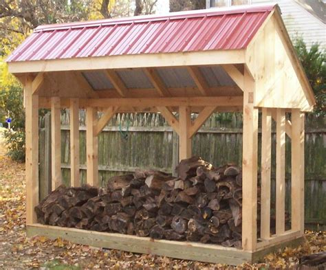 Building a wood shed for firewood Image