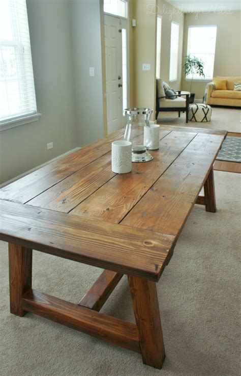 Building dining room table Image