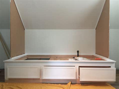 Built in bed nook plans Image