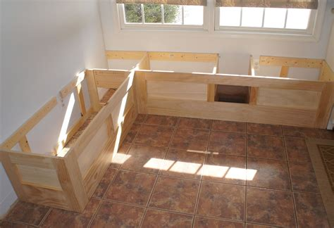 Built in bench seat plans Image