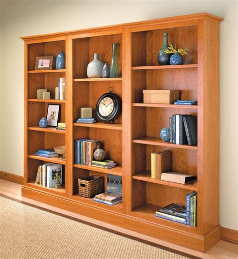 Built in bookshelf woodworking plans Image
