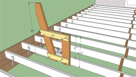 Built in deck bench plans Image