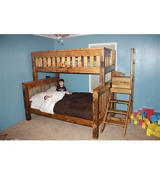 Built In Twin Over Full Bunk Bed Plans