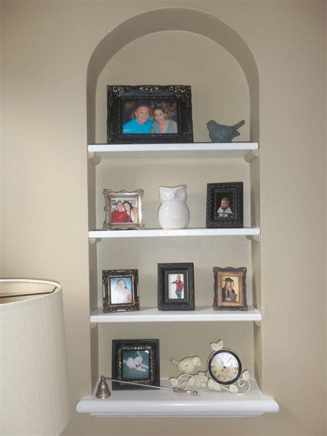 Built in wall shelves Image