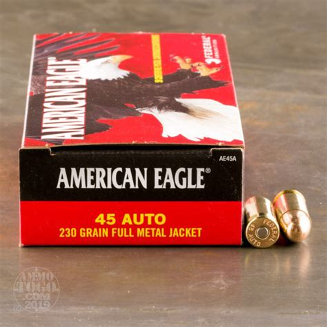 Bulk 45 ACP Auto Ammo By Federal For Sale - 1000 Rounds