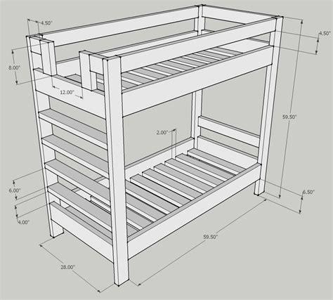 Bunk bed dimensions plans Image