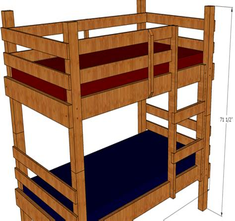 Bunk Bed Plans Free Download Image