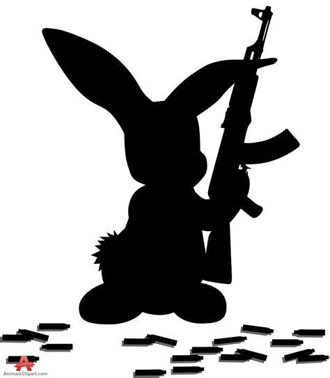Bunny Holding An Ak 47
