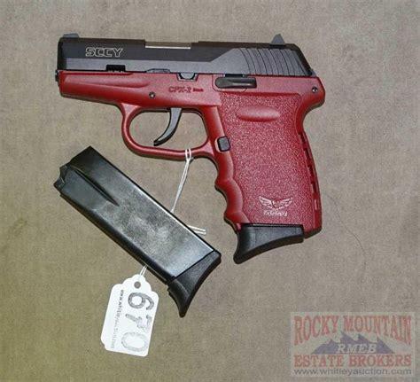 Burgundy 9mm Handgun