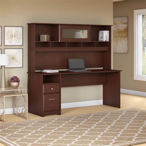 Bush Computer Desk With Hutch Image