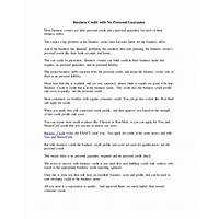 Buying business credit: no personal credit and no personal guarantee