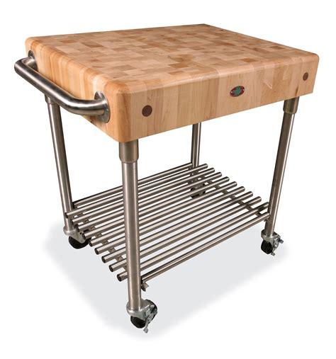 butcher block table on wheels.aspx Image