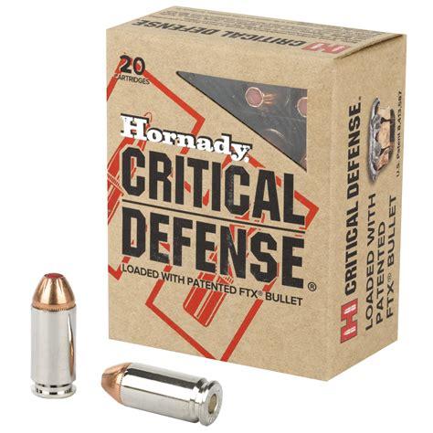Buy Critical Defense Ammo 40 S W 165gr Ftx Hornady