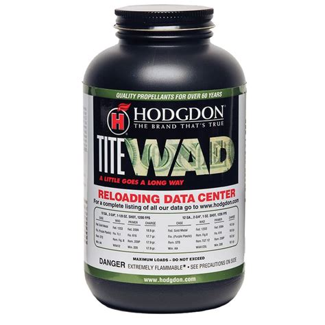 Buy Hodgdon Titewad Powder Hodgdon Powder Co Inc