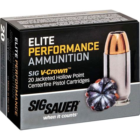 Buy Hollow Point Sig Sauer Bullets For 9mm