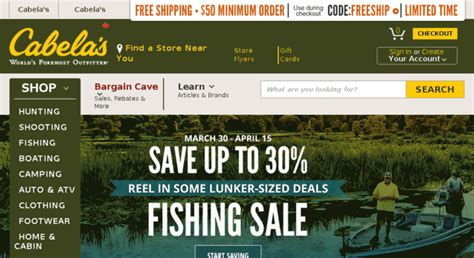 Cabela S Official Website - Hunting Fishing Camping