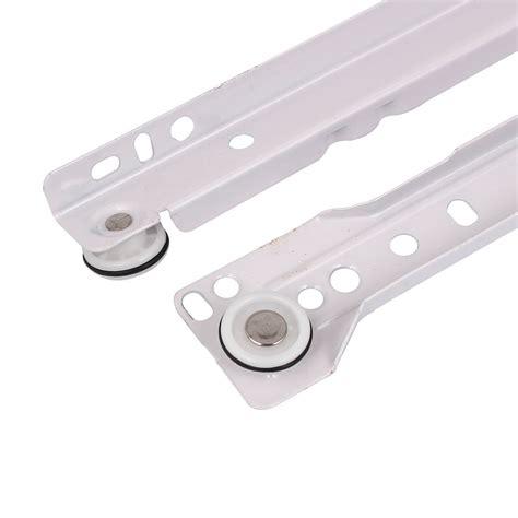 Cabinet drawer rails with nylon wheels Image