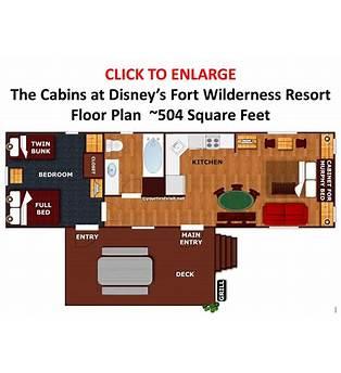Cabins At Fort Wilderness Floor Plan