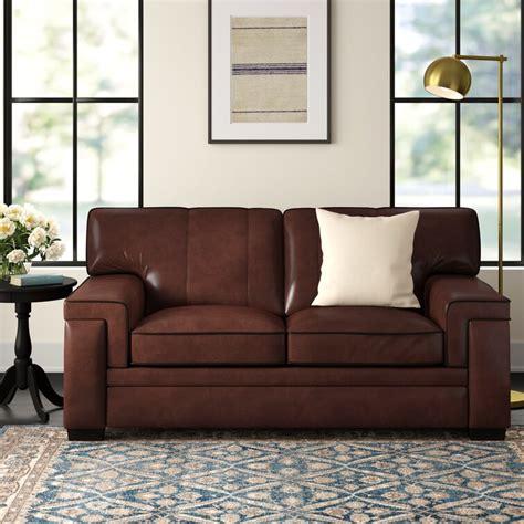 Cabott Leather Loveseat