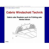 Cabrio windschott technik technique