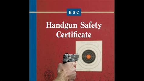 California Handgun Safety Certificate Online Test