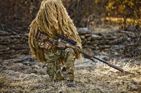 Camo Sniper Rifle Wallpaper