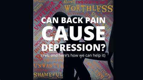 Can Back Pain Cause Depression