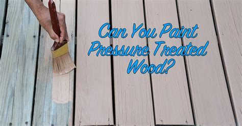 Can you paint treated plywood Image